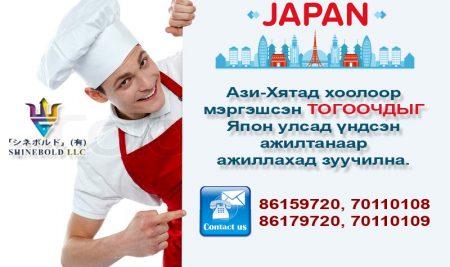 Япон улсад үндсэн ажилтанаар ажиллах боломж